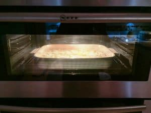 Focaccia in the oven