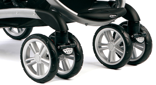 Graco Quattro Tour Duo wheel suspension