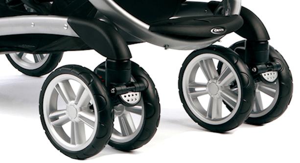 Graco Quattro Tour Duo wheel suspension